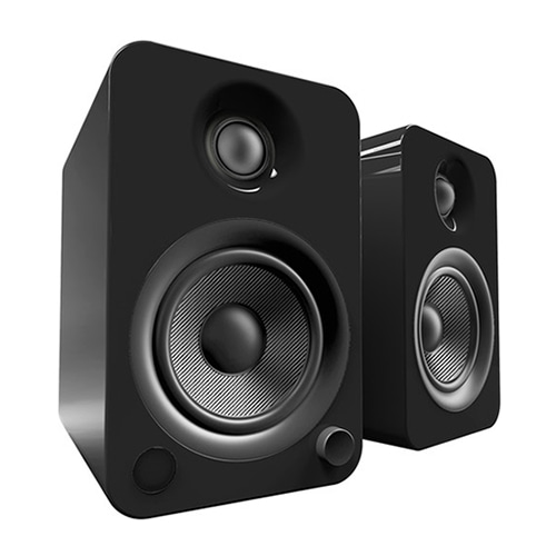 Kanto(간토) YU4 Powered Speakers with Bluetooth™ and Phono Preamp - Pair, Gloss Black