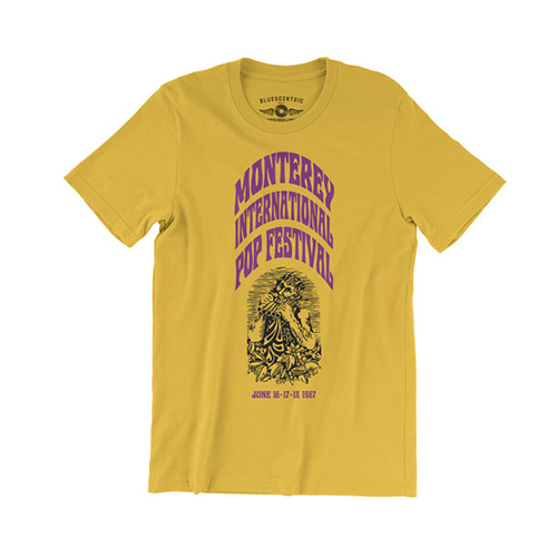 Monterey International Pop Festival T-Shirt - Yellow